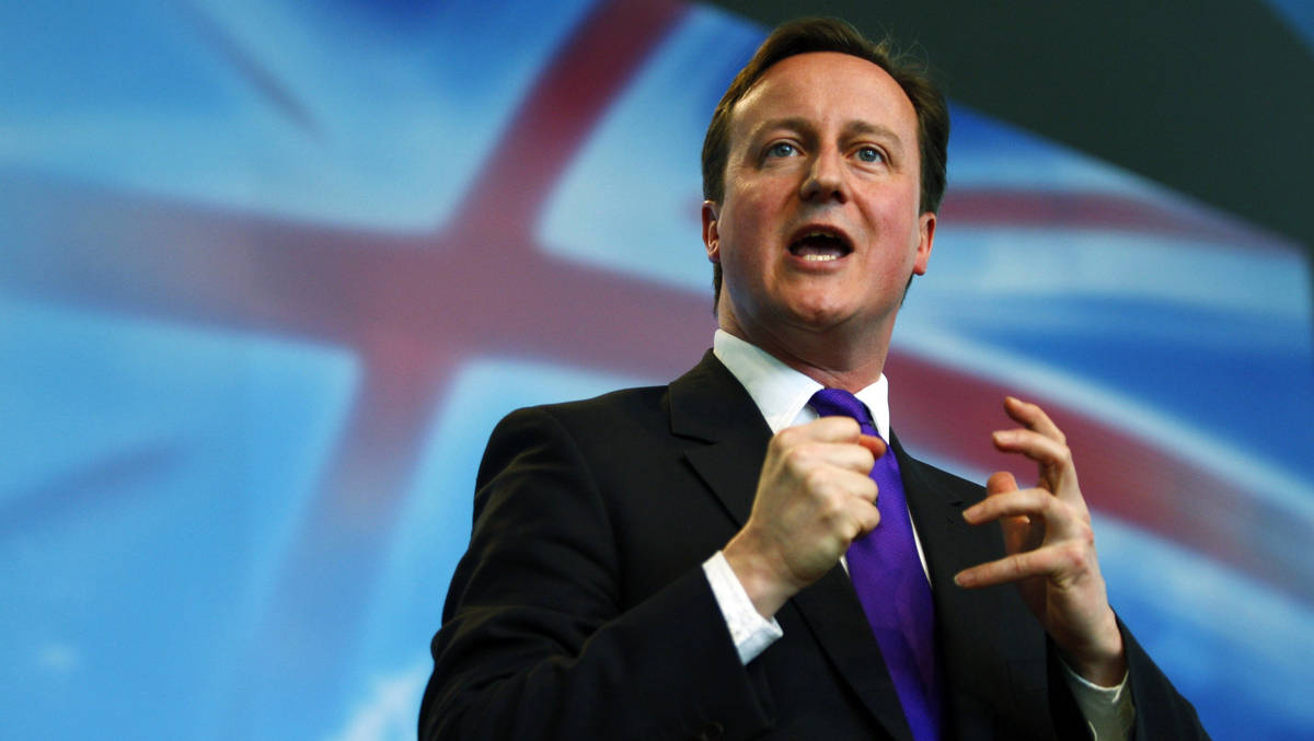 Brittish Prime Minister David Cameron speaking about stopping the terrorists at all costs